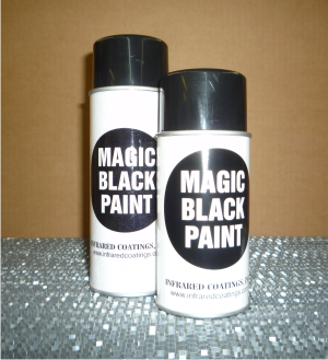 magic black spray paint cans
